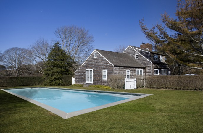 <span>Rear Exterior with Pool</span>