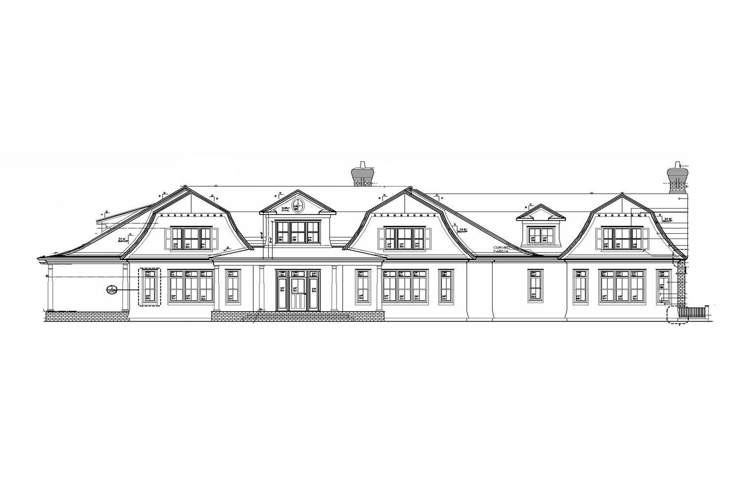 <span>proposed front elevation</span>