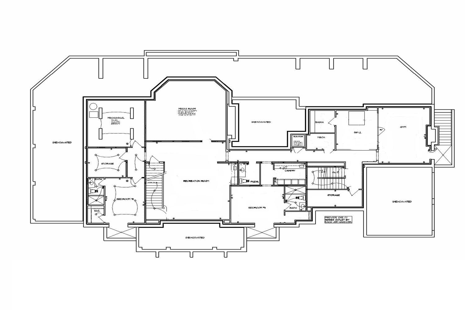 <span>proposed lower level floor plan</span>