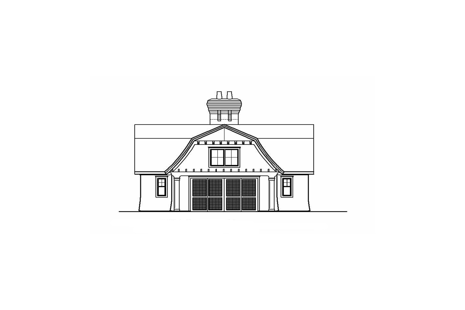 <span>proposed pool house elevation</span>