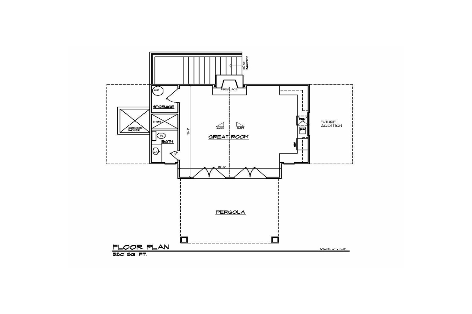 <span>proposed pool house floor plan</span>