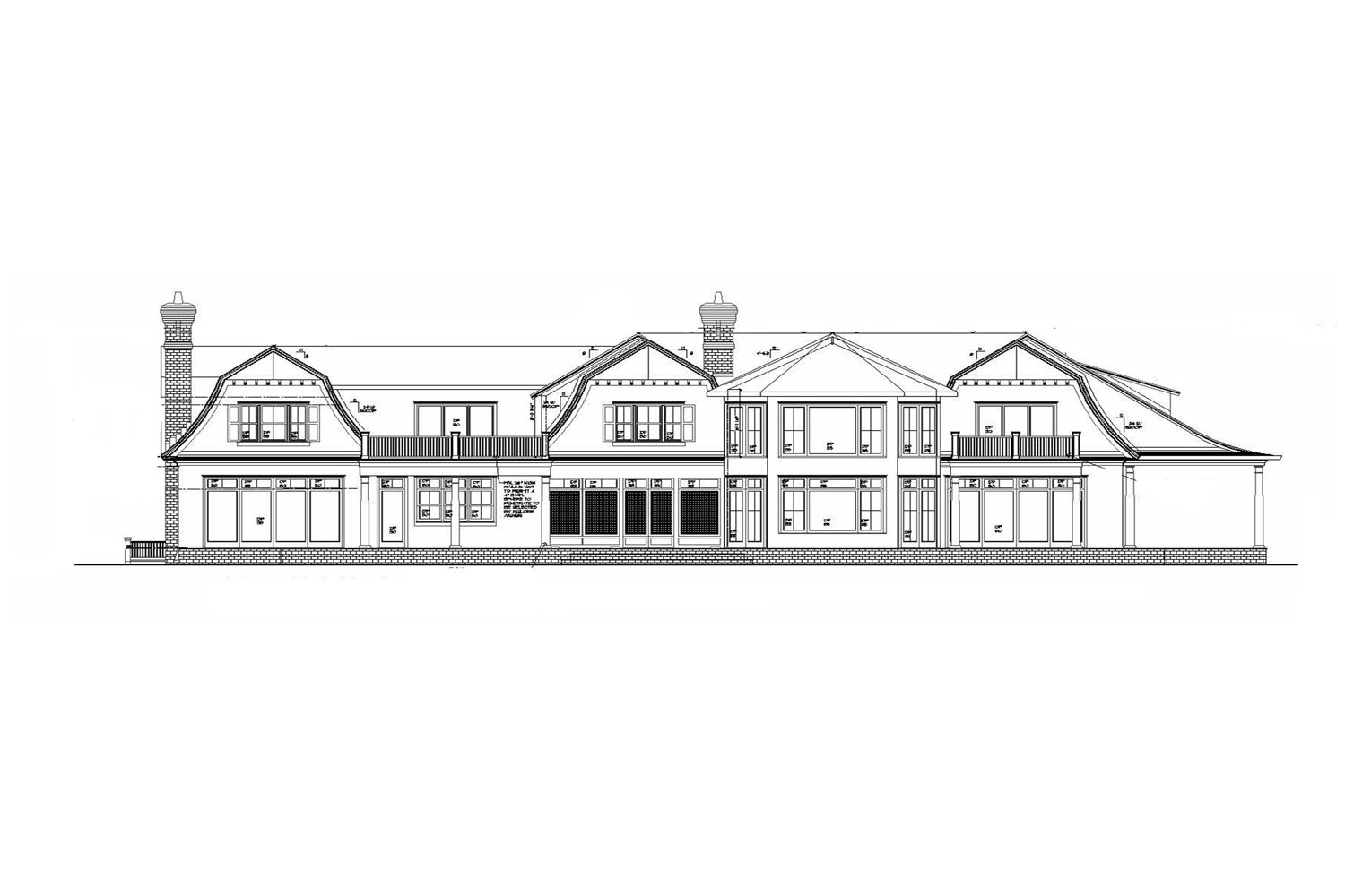 <span>proposed rear elevation</span>