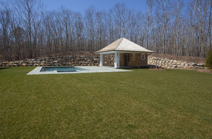 <span>heated gunite pool, spa and pool house</span>