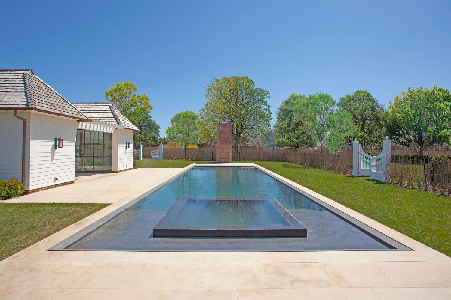 <span>pool house, heated gunite infinity edge pool</span>