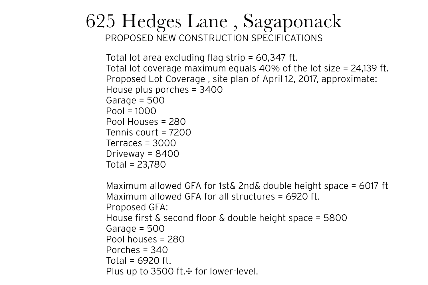 <span>proposed new construction specifications</span>