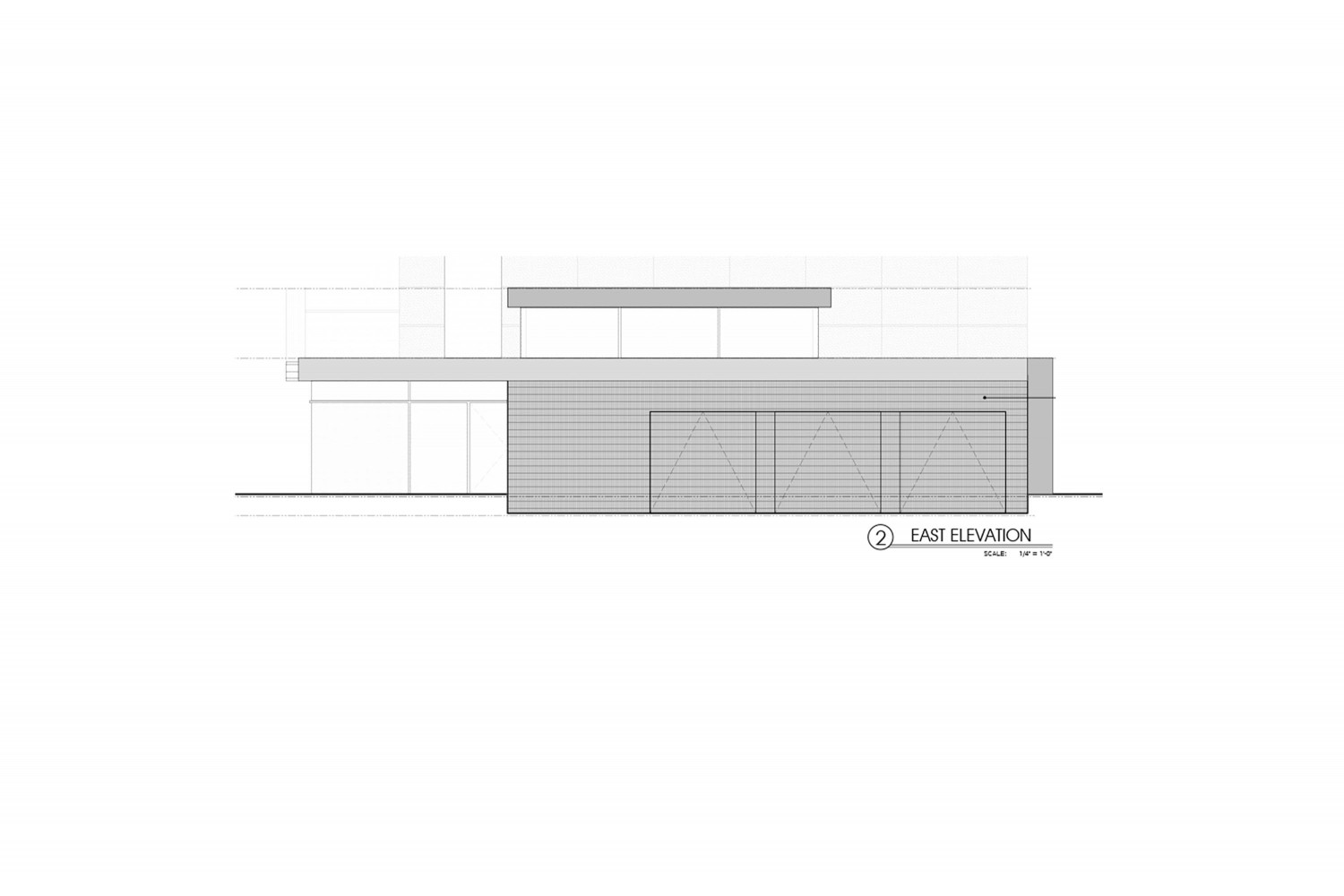 <span>proposed east elevation</span>