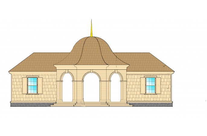 <span>Pool House Elevation</span>